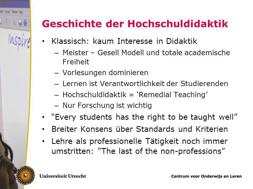 Geschichte der Hochschuldidaktik