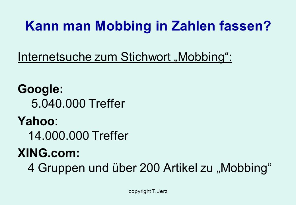 Kann man Mobbing in Zahlen fassen