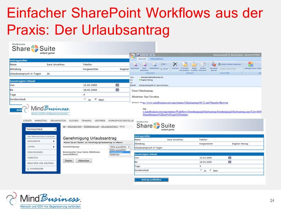 Einfacher SharePoint Workflows aus der Praxis: Der Urlaubsantrag
