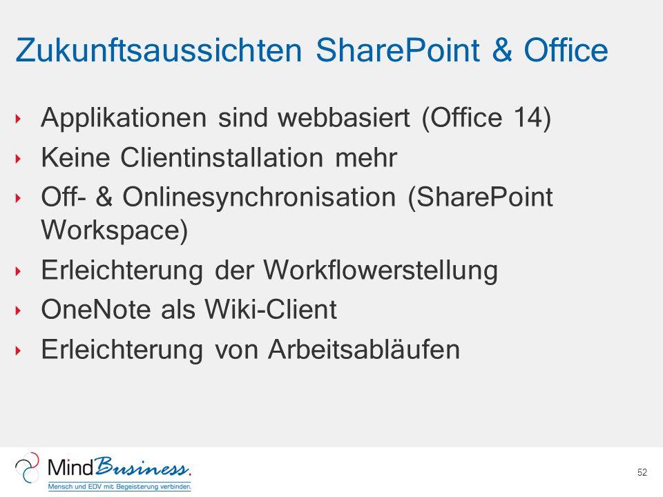 Zukunftsaussichten SharePoint & Office