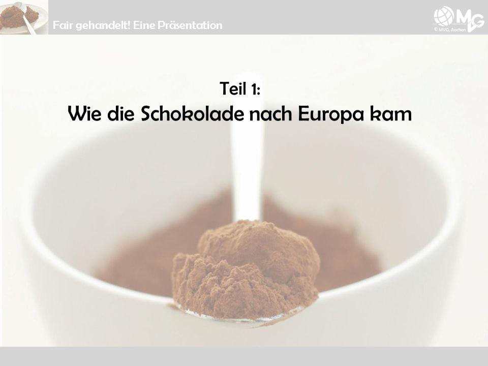 Teil 1: Wie die Schokolade nach Europa kam