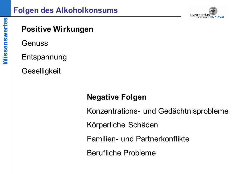 Folgen des Alkoholkonsums Positive Wirkungen Genuss Entspannung