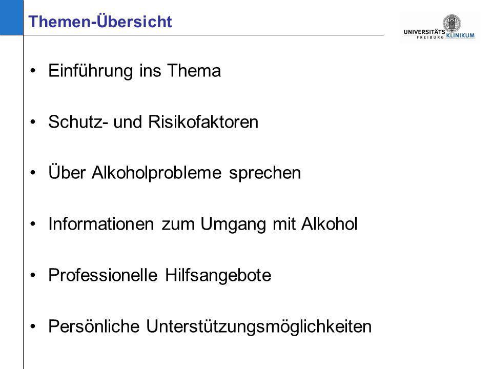 Schutz- und Risikofaktoren Über Alkoholprobleme sprechen