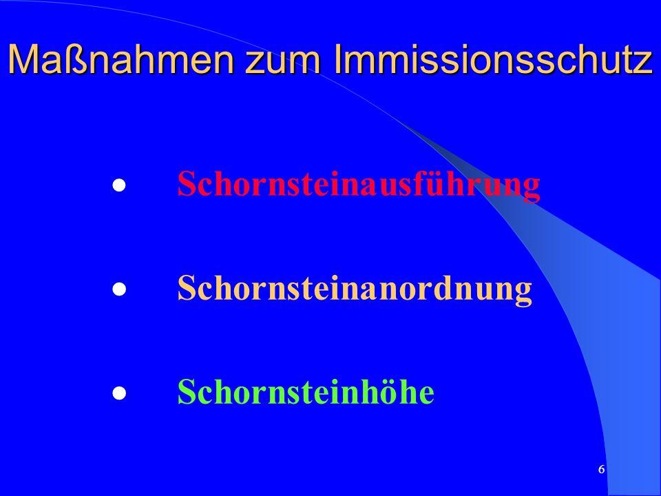 Maßnahmen zum Immissionsschutz