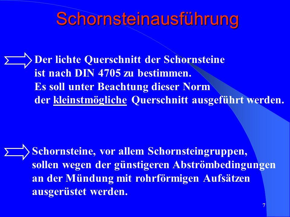 Schornsteinausführung