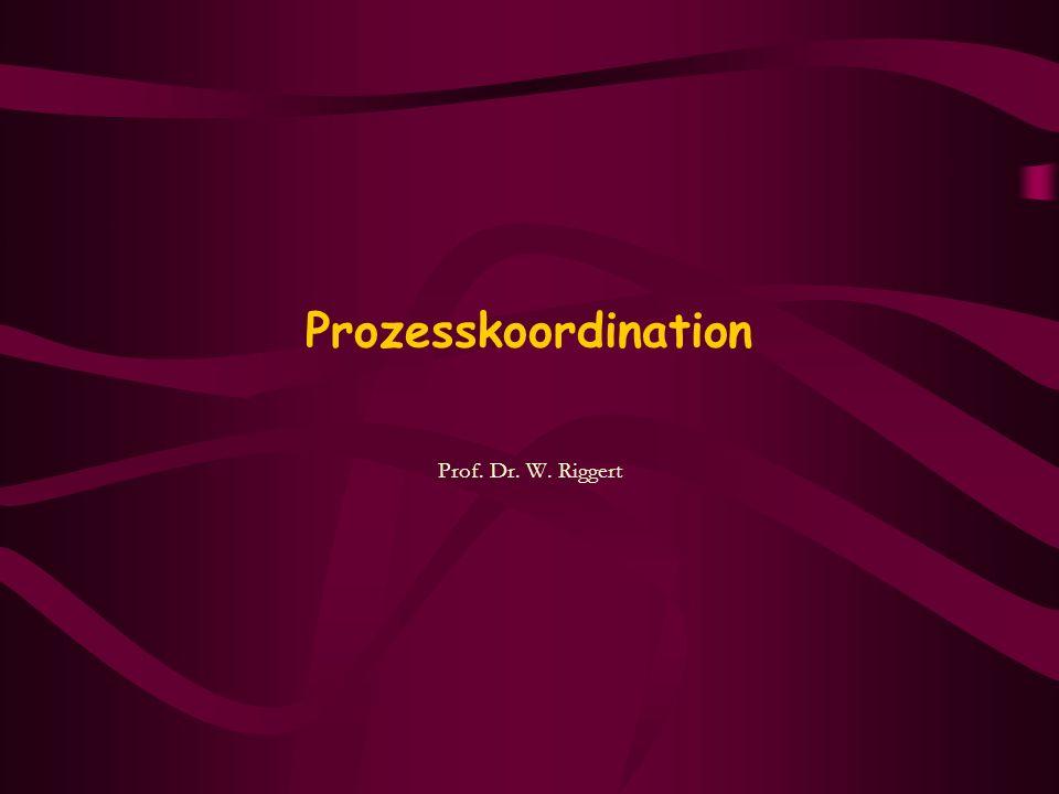 Prozesskoordination Prof. Dr. W. Riggert