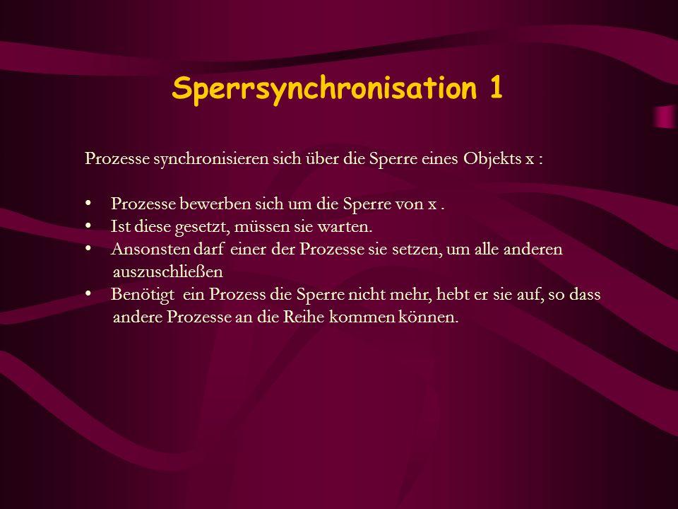 Sperrsynchronisation 1
