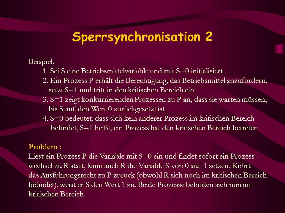 Sperrsynchronisation 2