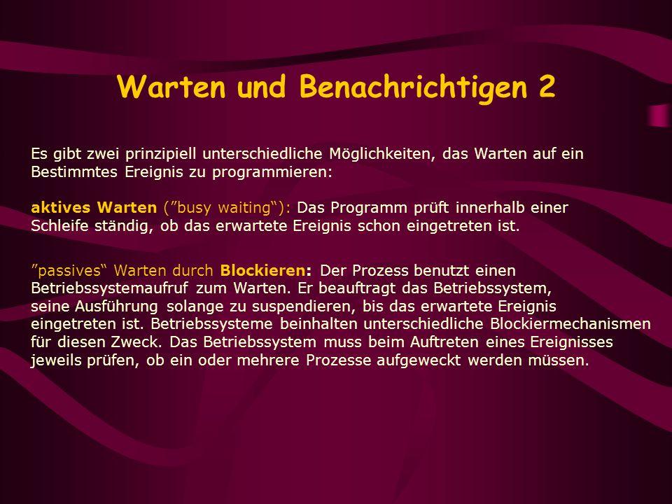 Warten und Benachrichtigen 2