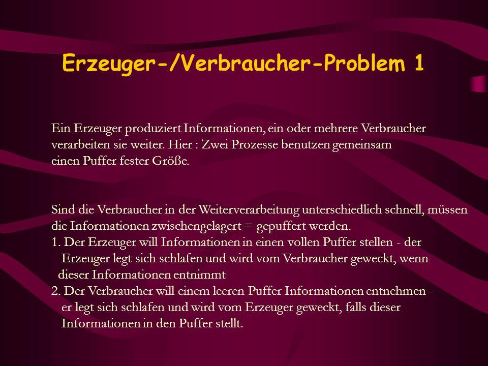 Erzeuger-/Verbraucher-Problem 1