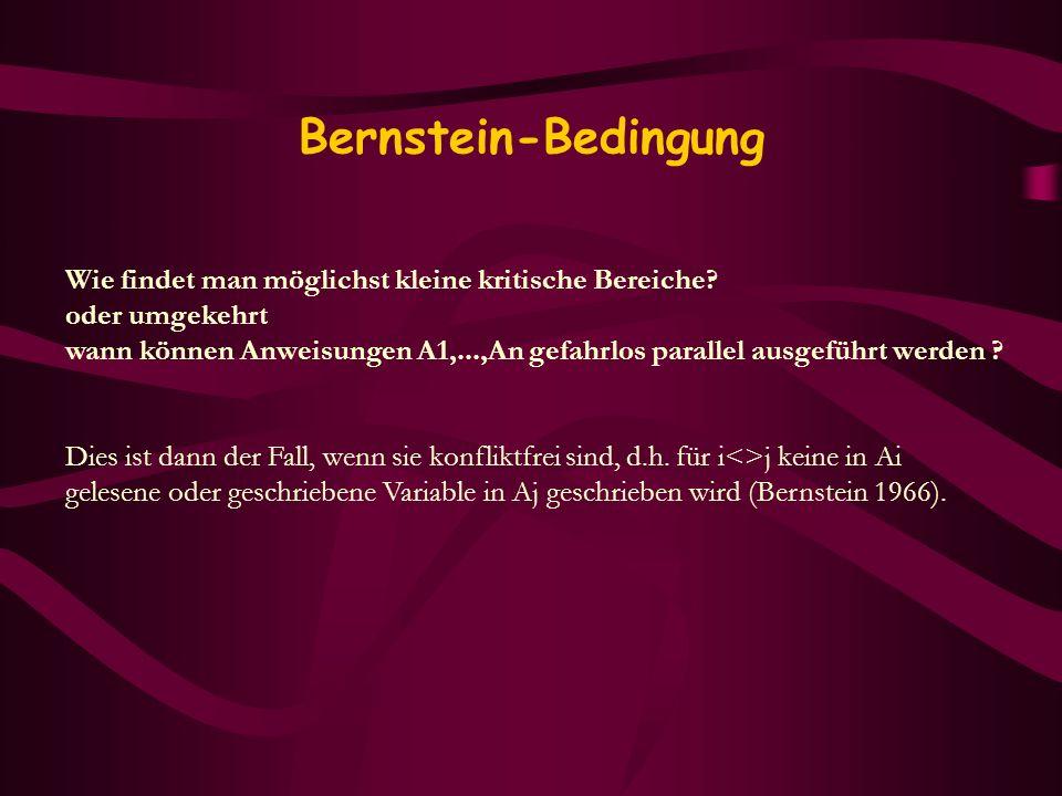 Bernstein-Bedingung Wie findet man möglichst kleine kritische Bereiche oder umgekehrt.
