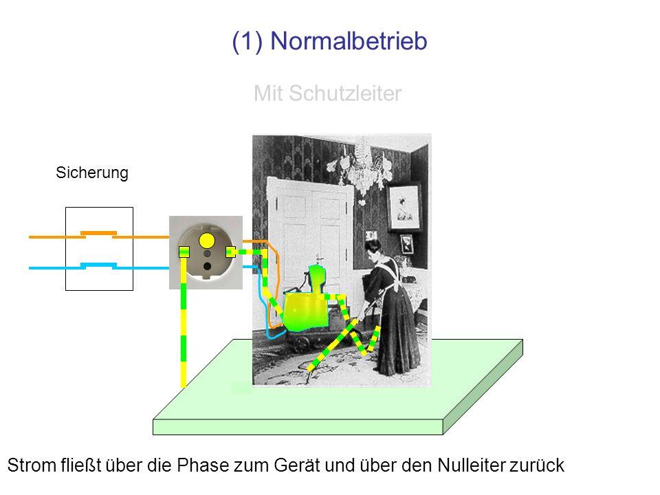 (1) Normalbetrieb Mit Schutzleiter