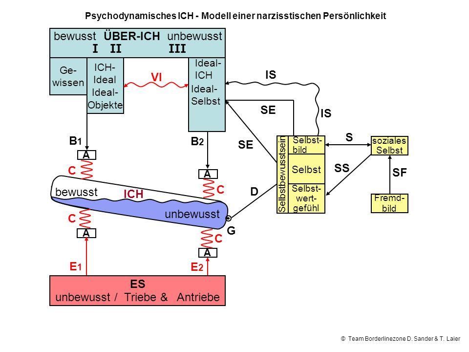 Psychodynamisches ICH - Modell einer narzisstischen Persönlichkeit