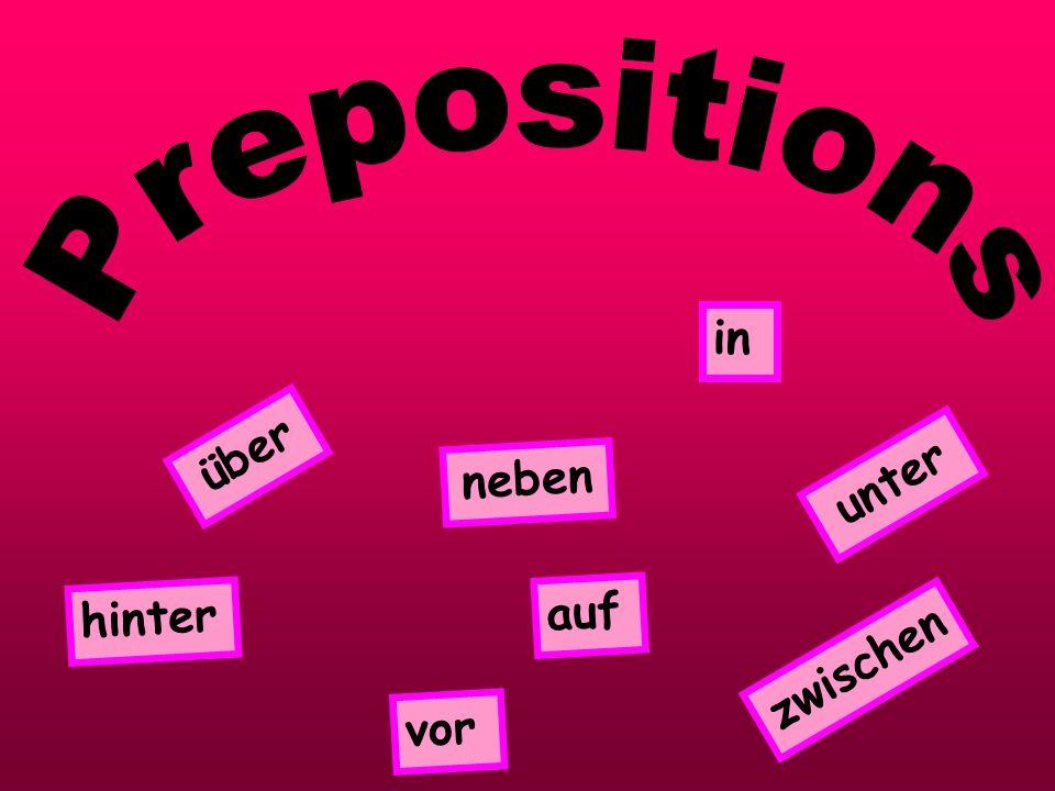 Prepositions in über neben unter hinter auf zwischen vor