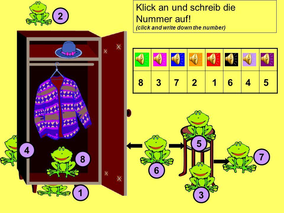 Klick an und schreib die Nummer auf! (click and write down the number)