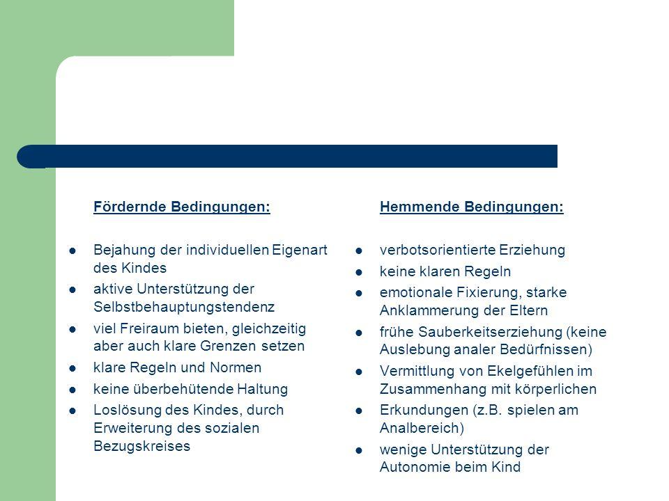 Fördernde Bedingungen: