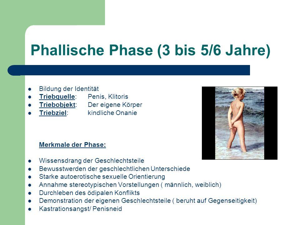 Phallische Phase (3 bis 5/6 Jahre)