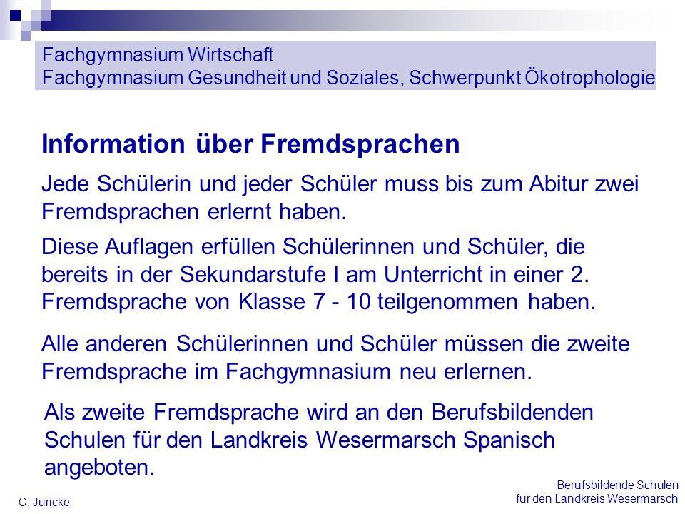 Information über Fremdsprachen