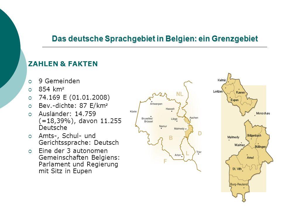 Das deutsche Sprachgebiet in Belgien: ein Grenzgebiet