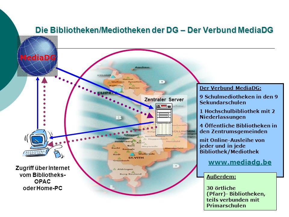Die Bibliotheken/Mediotheken der DG – Der Verbund MediaDG