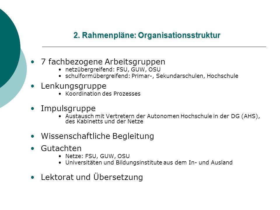 2. Rahmenpläne: Organisationsstruktur