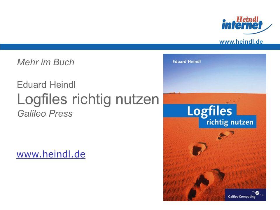 Mehr im Buch Eduard Heindl Logfiles richtig nutzen Galileo Press
