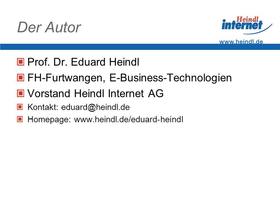 Der Autor Prof. Dr. Eduard Heindl