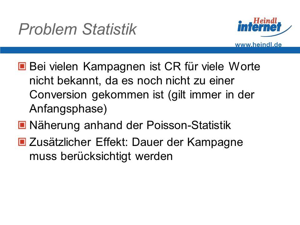 Problem Statistik www.heindl.de.