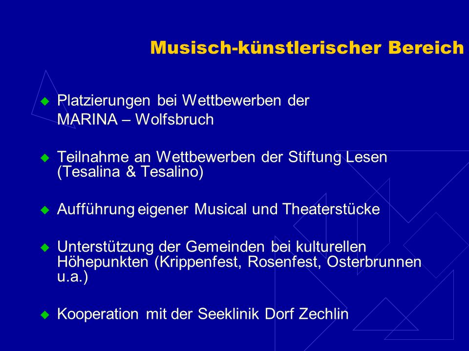Musisch-künstlerischer Bereich