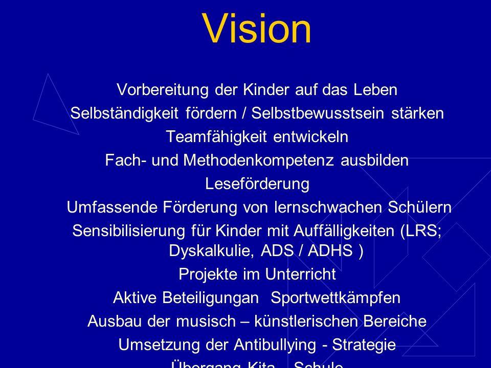 Vision Vorbereitung der Kinder auf das Leben
