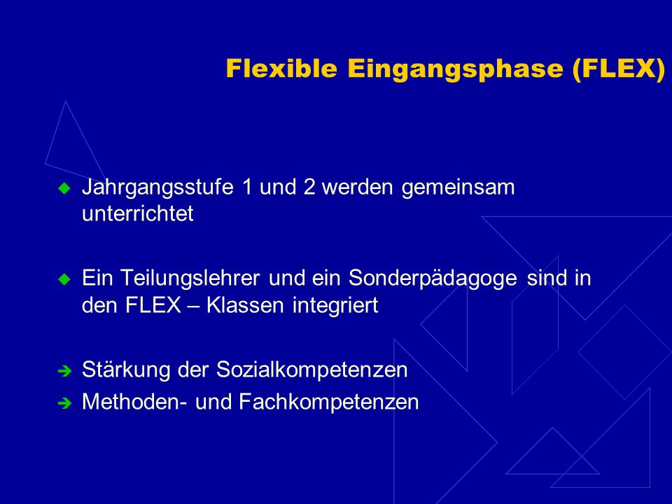 Flexible Eingangsphase (FLEX)
