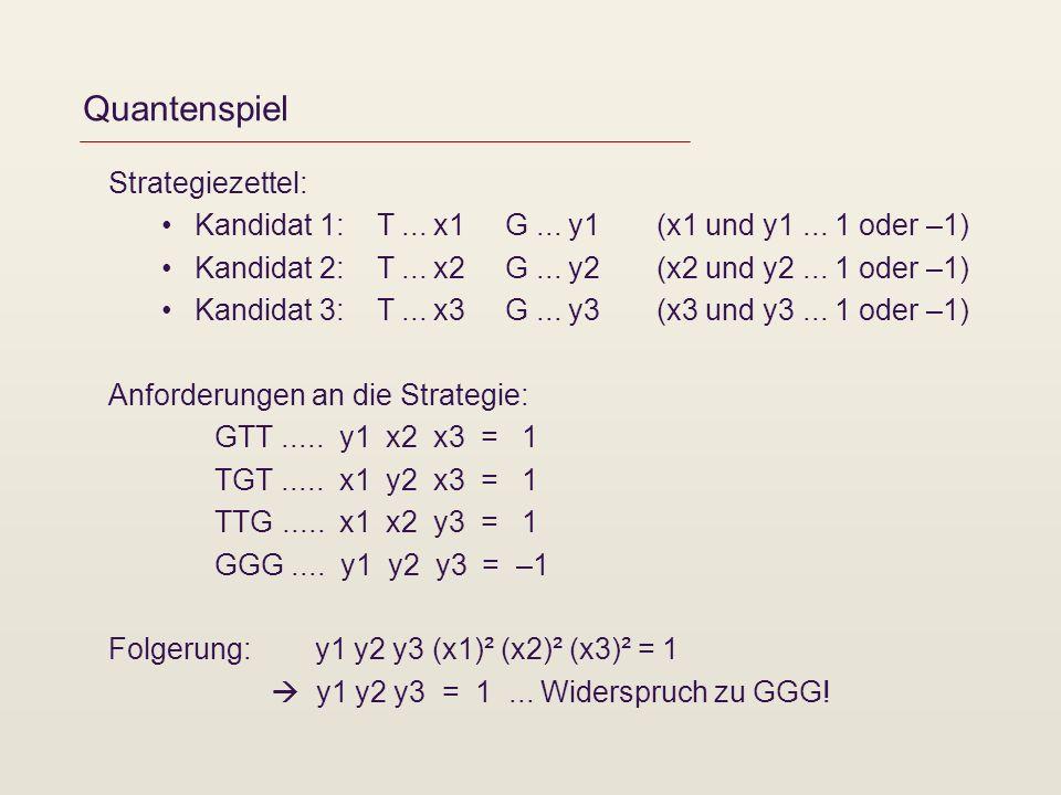 Quantenspiel Strategiezettel: