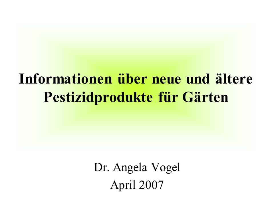 Informationen über neue und ältere Pestizidprodukte für Gärten