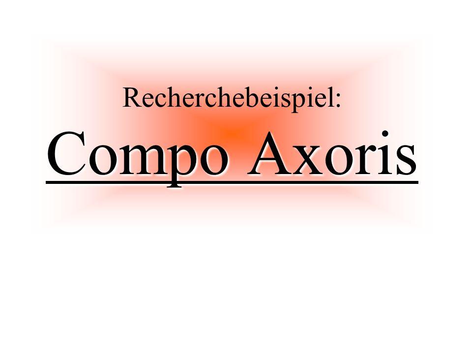 Recherchebeispiel: Compo Axoris