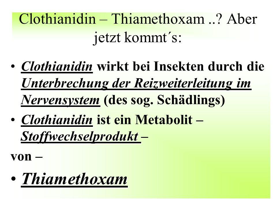 Clothianidin – Thiamethoxam .. Aber jetzt kommt´s: