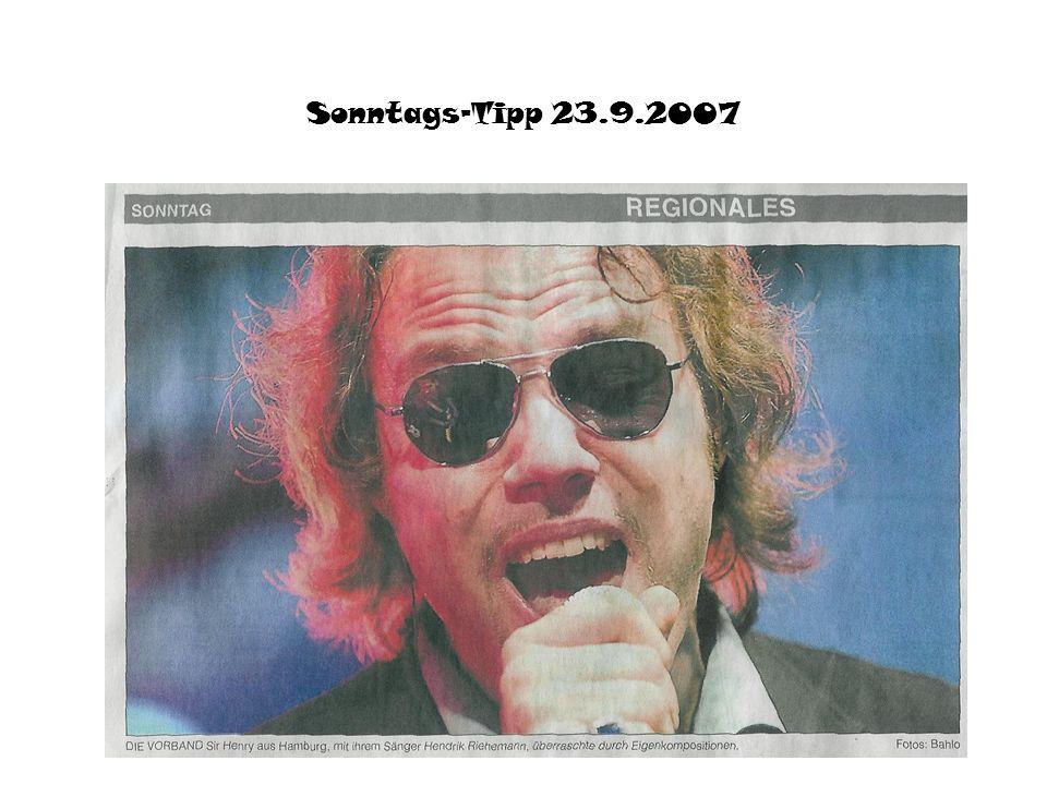 Sonntags-Tipp 23.9.2007