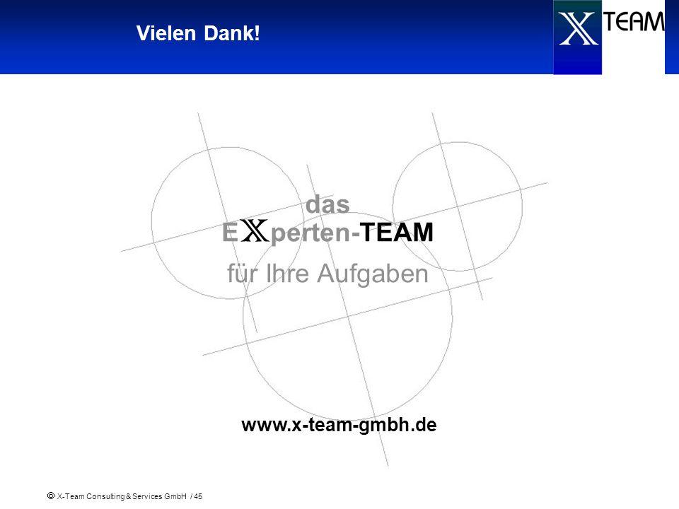 Vielen Dank! das Experten-TEAM für Ihre Aufgaben www.x-team-gmbh.de