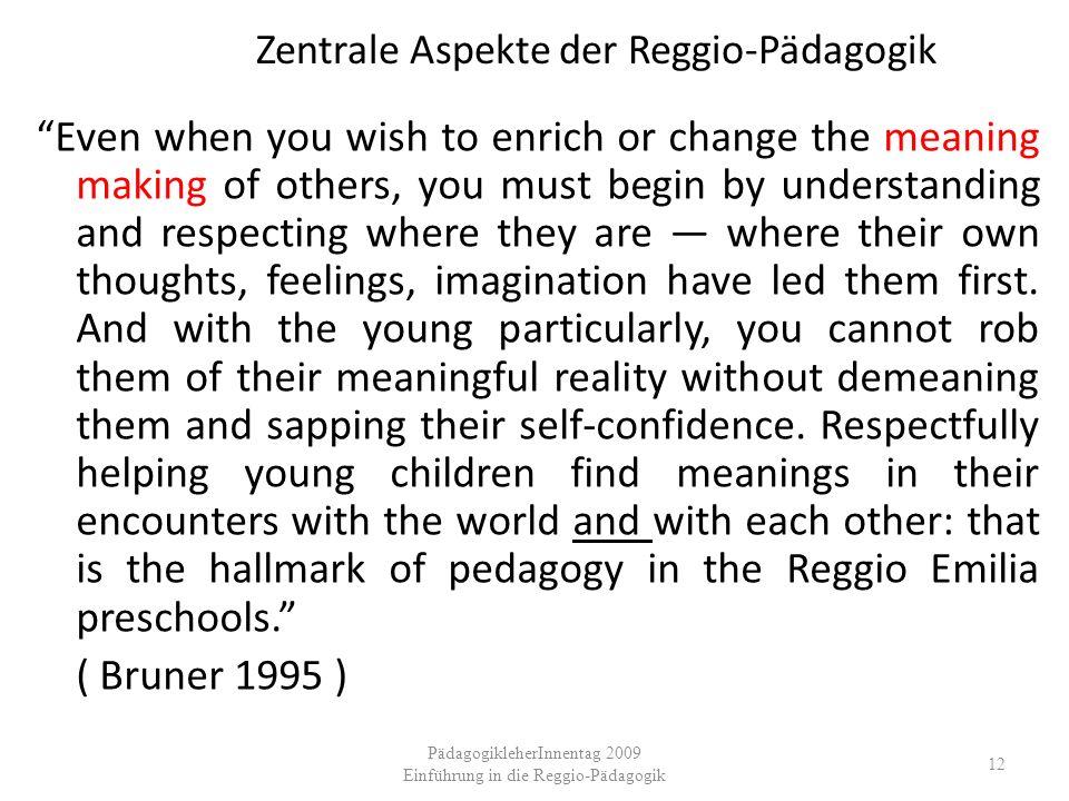 Zentrale Aspekte der Reggio-Pädagogik