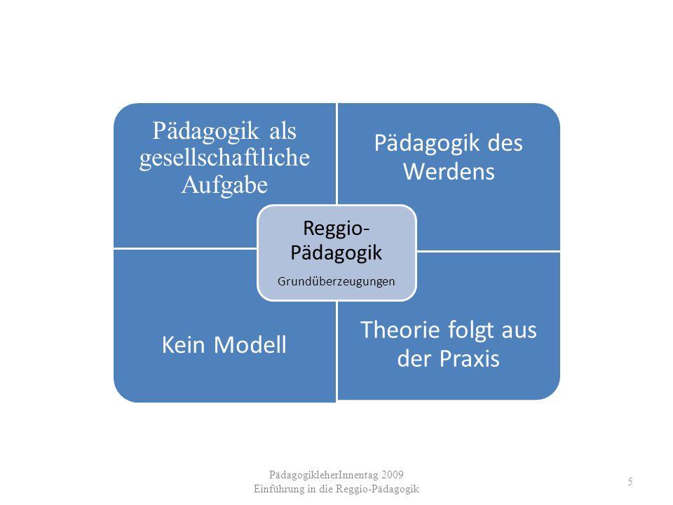 Reggio-Pädagogik Grundüberzeugungen