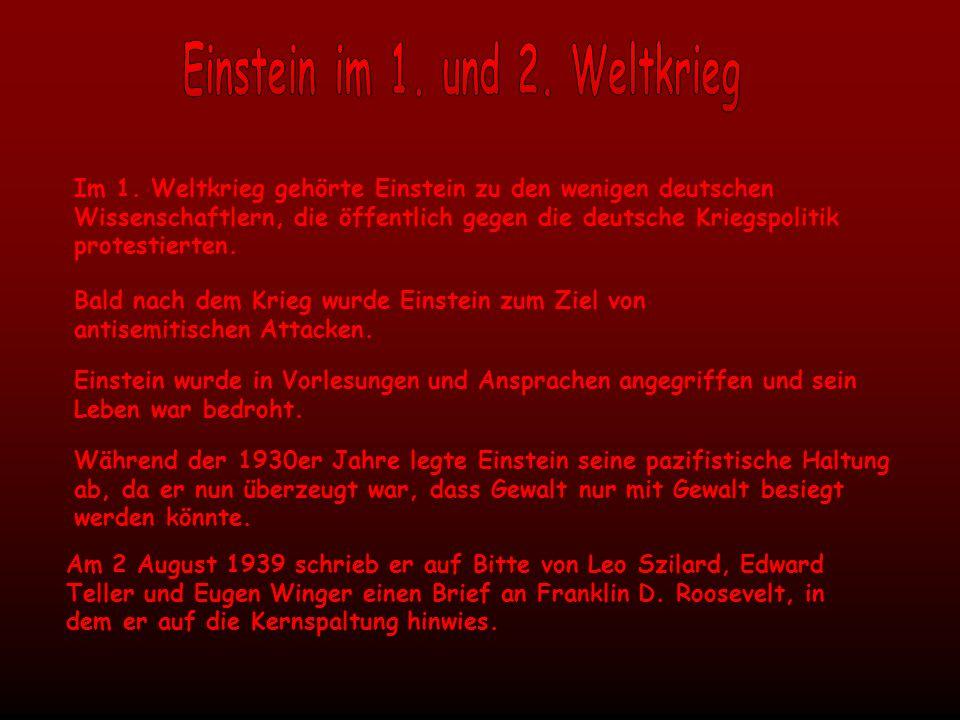 Einstein im 1. und 2. Weltkrieg