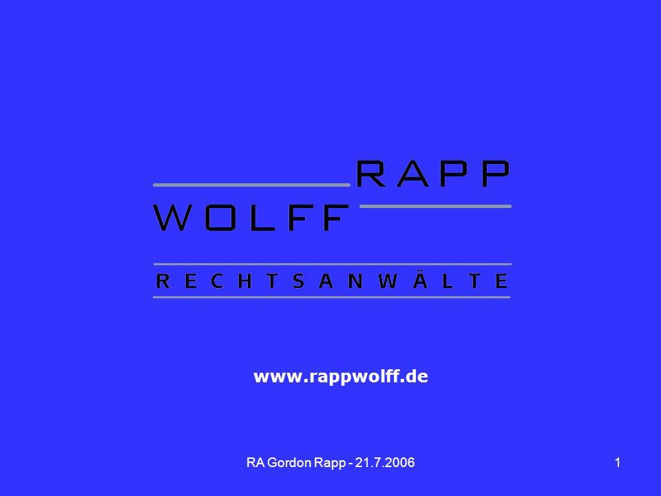 www.rappwolff.de Zu Folie 1 Meine sehr geehrten Damen und Herren,