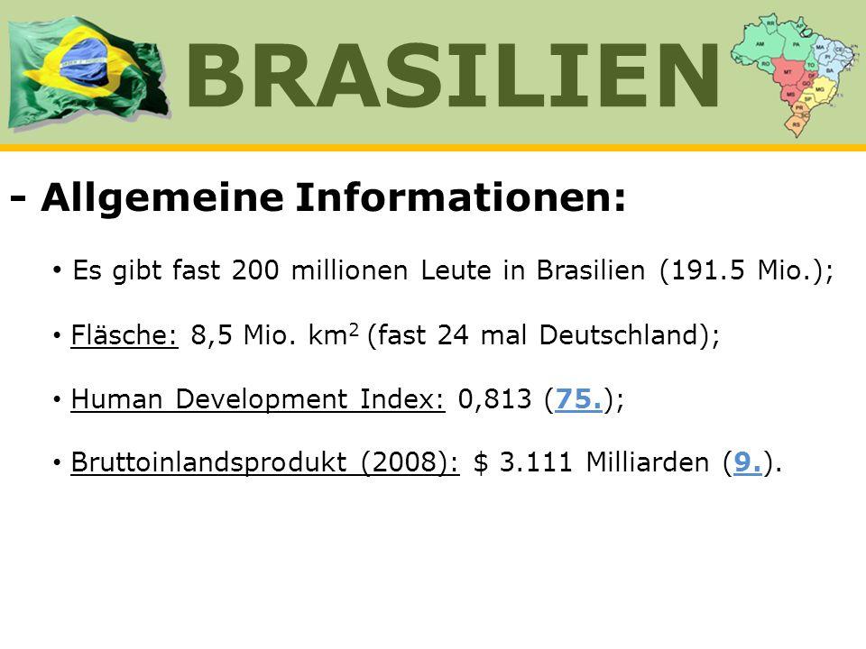 BRASILIEN - Allgemeine Informationen: