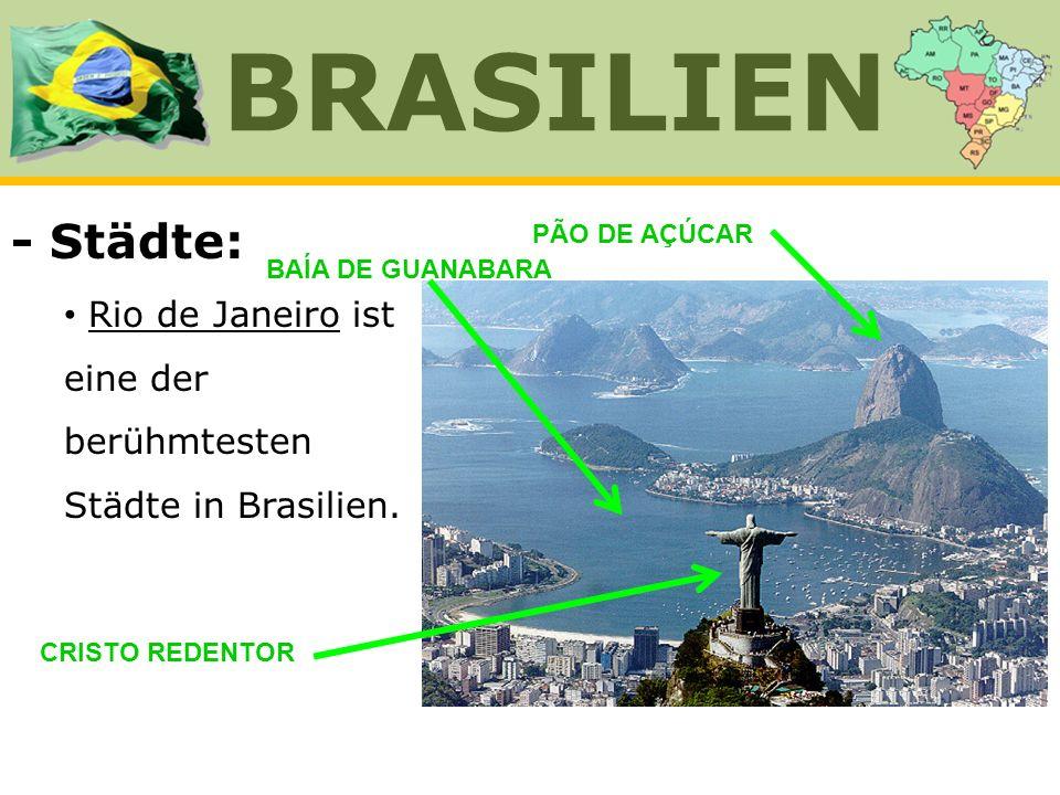 BRASILIEN - Städte: Rio de Janeiro ist eine der berühmtesten Städte in Brasilien. PÃO DE AÇÚCAR. BAÍA DE GUANABARA.
