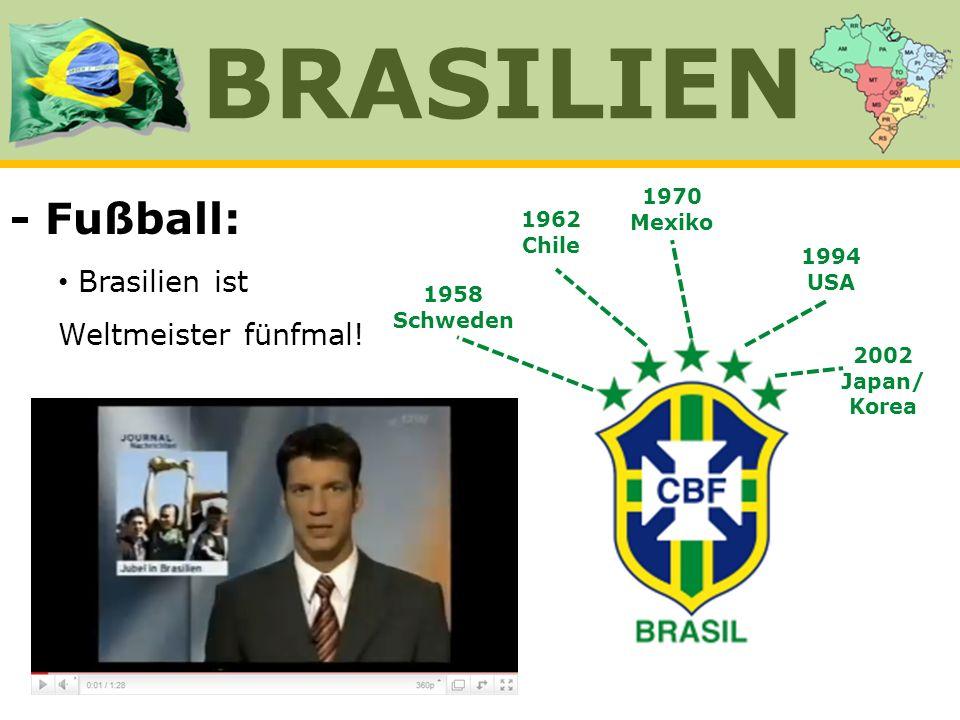 BRASILIEN - Fußball: Brasilien ist Weltmeister fünfmal! 1970 Mexiko