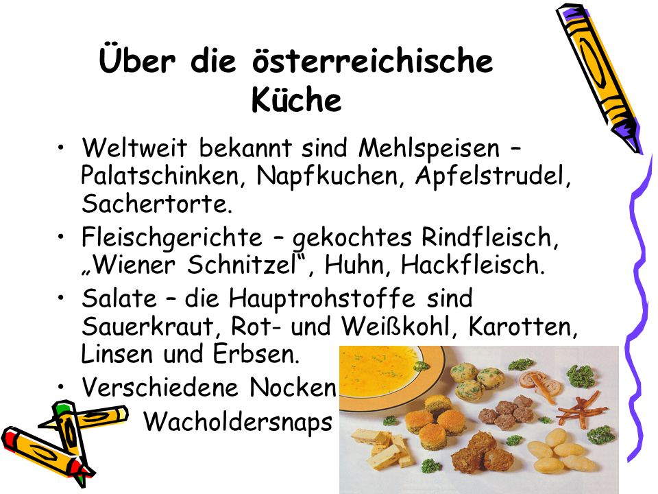 Über die österreichische Küche