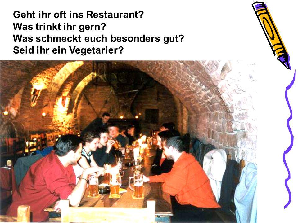 Geht ihr oft ins Restaurant