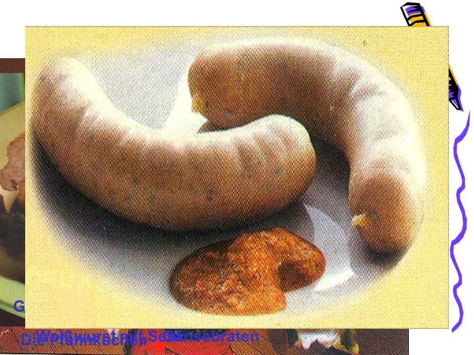 Über Deutsche Küche Geflügelroulade Die Soße Weißwurst mit Senf