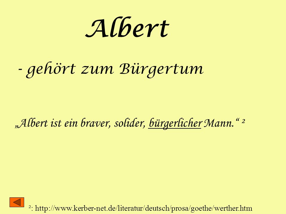 Albert - gehört zum Bürgertum