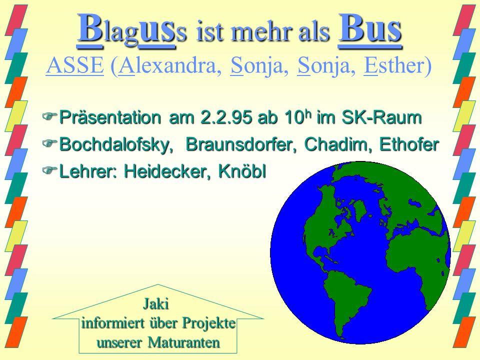 Blaguss ist mehr als Bus ASSE (Alexandra, Sonja, Sonja, Esther)