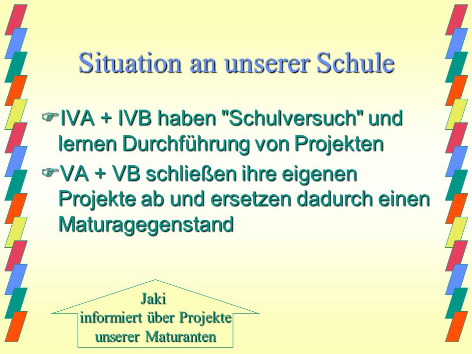 Situation an unserer Schule